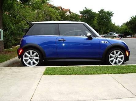 Image result for 2005 mini cooper s hyper blue