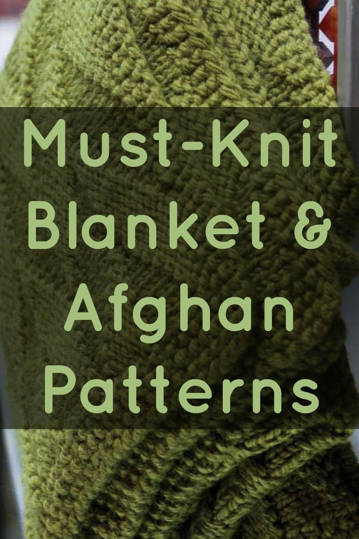 If you like knitted blankets and afghans, then you'll LOVE these 7 FREE knitting patterns! #knitting #knittingpatterns #knittedblankets