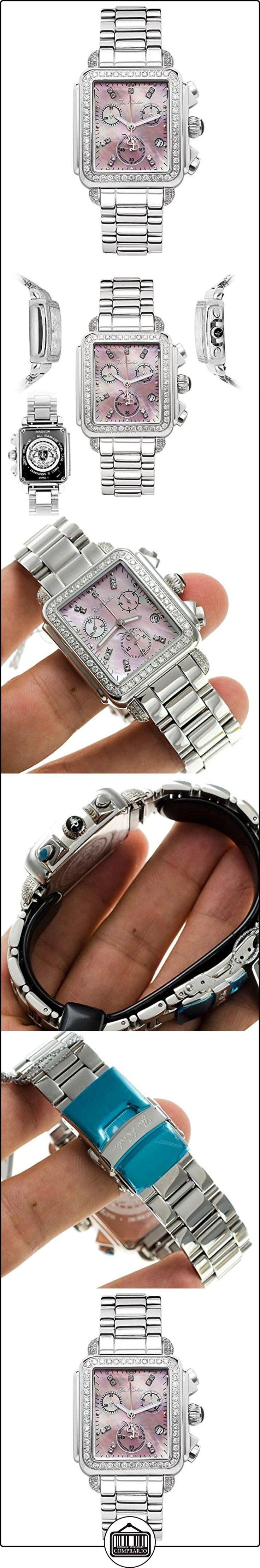 Joe Rodeo diamante de las señoras reloj de pulsera - MADISON de plata 2 ctw  ✿ Relojes para mujer - (Lujo) ✿