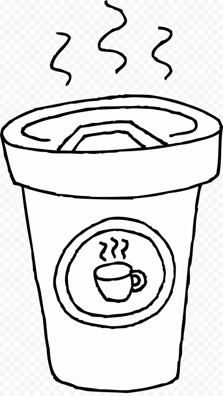 Cute Starbucks Coloring Pages Luxury Cup Tea Clipart Black ...