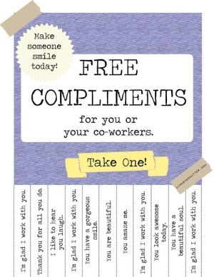 free compliments by marcie