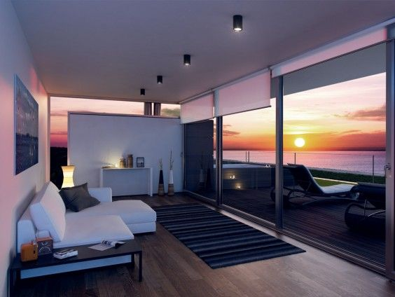 #Soleis Residential Complex - #Villa E - Internal View - On the first floor, a private solarium with views of #sunset leaves room to a very large area to be used for sleeping, living or wellness. #luxury #realestate #forsale #italy #lignano