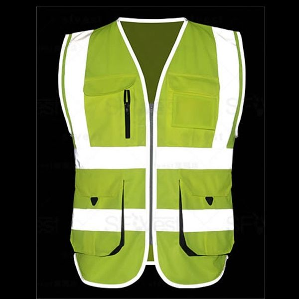 1 Adult Yellow Hi-Vis Reflective Safety Security Vest