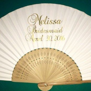 Bridal Party Fans Heading To California Personalised Wedding Favours Bespoke