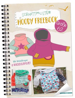 "Baby-Kapuzenpullover selber nähen! ""Hoody"" Freebook in Gr. 62 - Lybstes."