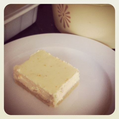 OMG I've died and gone to heaven - Lemon Cheesecake Slice. Gluten, Grain and Sugar Free.