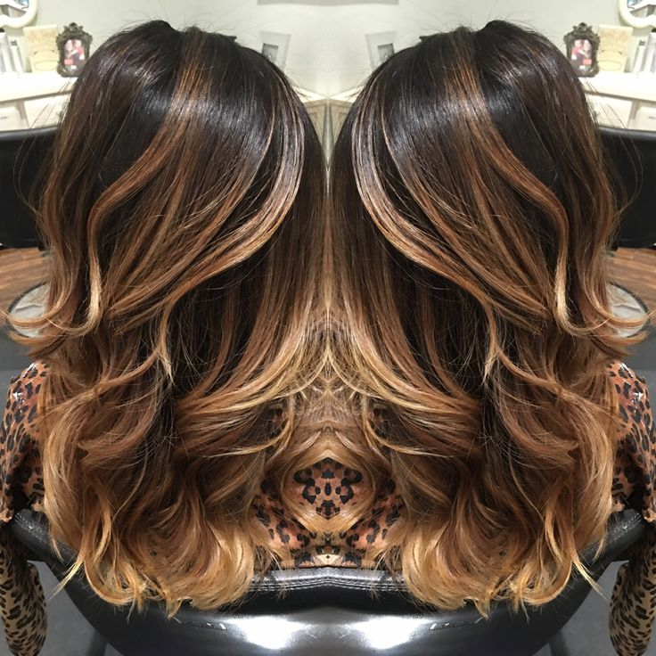 Balayage dark balayage Carmel balayage highlights hair beauty layers.   WOW!