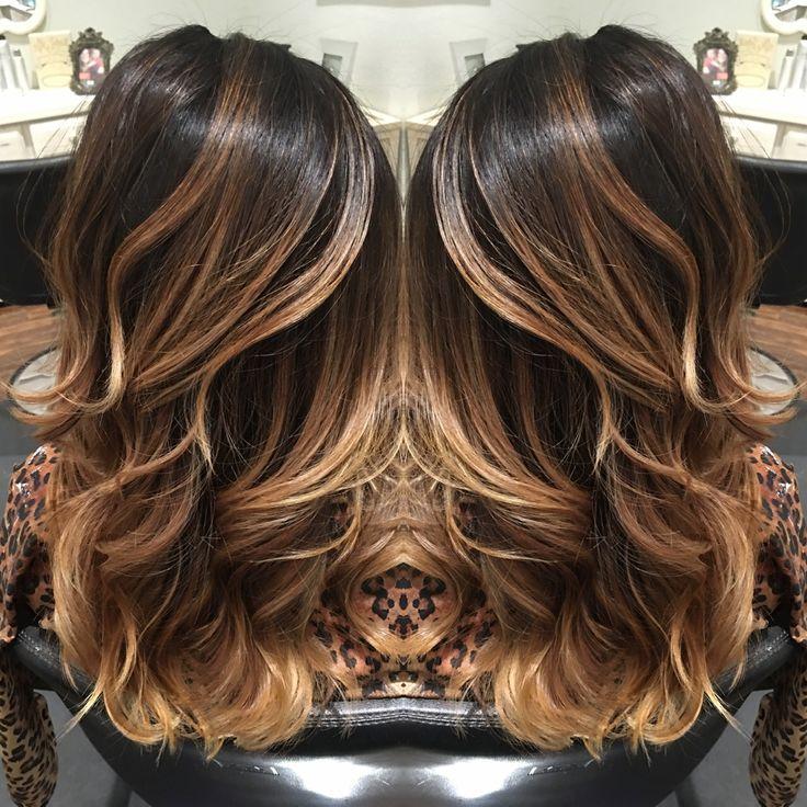 Balayage dark balayage Carmel balayage highlights hair beauty layers                                                                                                                                                     More