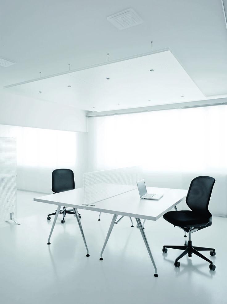 Rosso CP30 acoustic transparent partition. Gennemsigtig akustisk skillevæg. Rumdeler, room divider