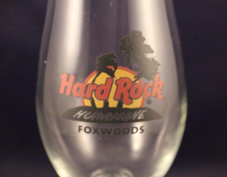 Vintage Hard Rock Cafe Hurricane Glass Foxwoods Red Circle Logo