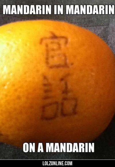 Mandarin In Mandarin...#funny #lol #lolzonline