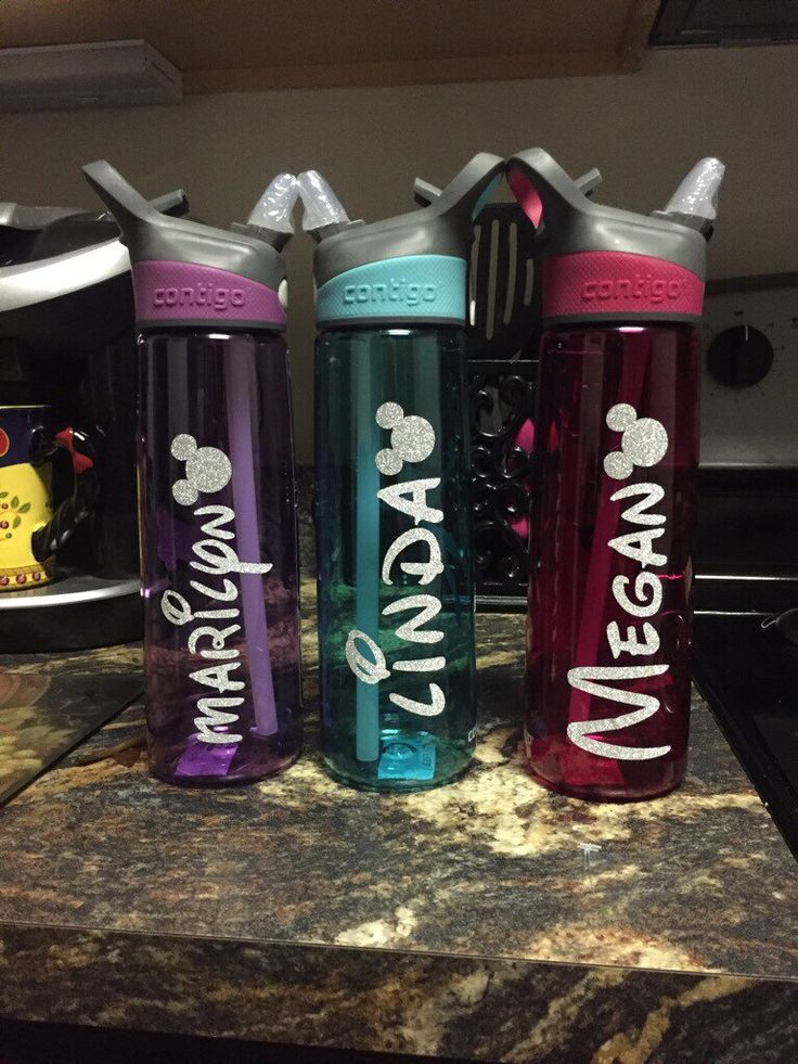 Disney water bottles by FairestMeganOfAll on Etsy https://www.etsy.com/listing/253125711/disney-water-bottles
