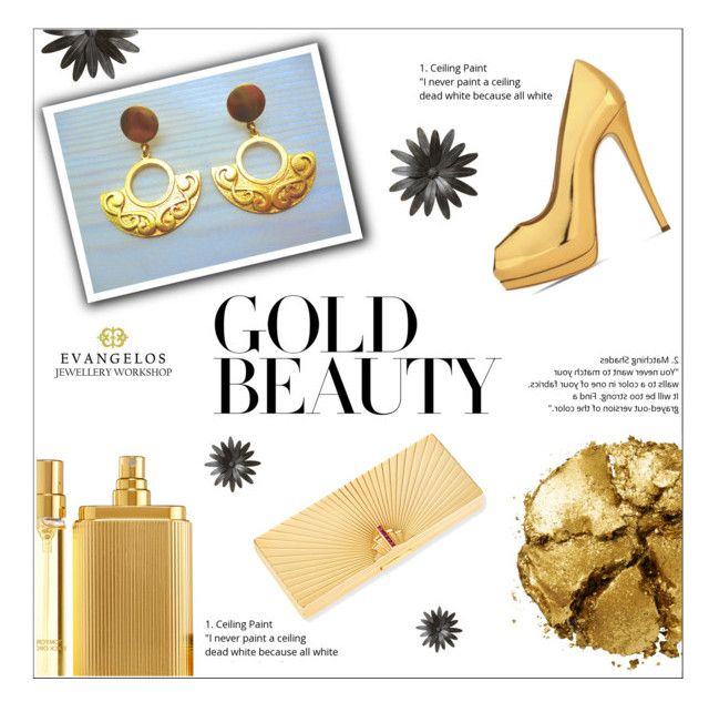 """""""GOLD BEAUTY - EVANGELOS JEWELLERY"""" by evanangel on Polyvore featuring Pat McGrath, Tom Ford and Giuseppe Zanotti, Evangelos Jewellery"""