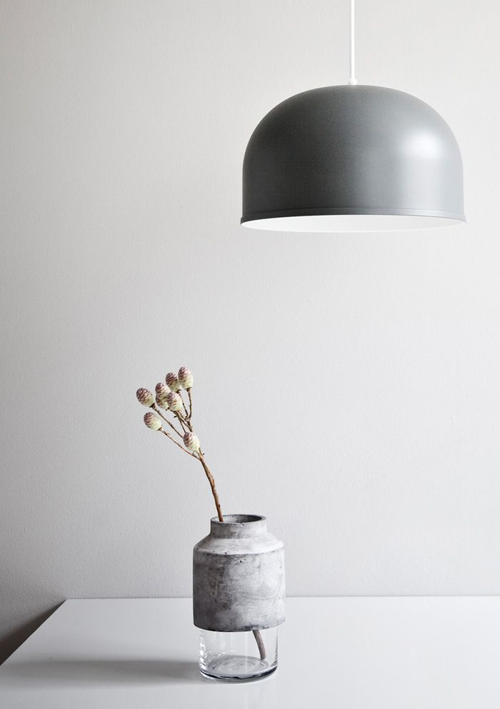 Concrete and glass vase from Menu A/S. Simple and beautiful.: