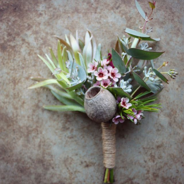 Image result for groom boutonniere native flowers