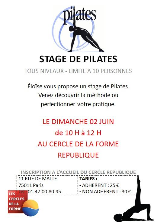 Stage de Pilates au Cercle République avec Eloïse, le dimanche 2 Juin 2013. Venez nombreux. www.cerclesdelaforme.com #pilates #yoga #paris