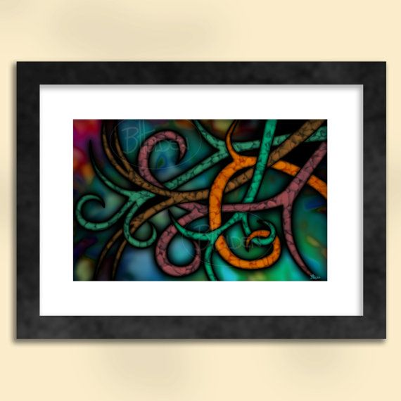 Autumn Abstract Art Print by SapphireMoonArt on Etsy