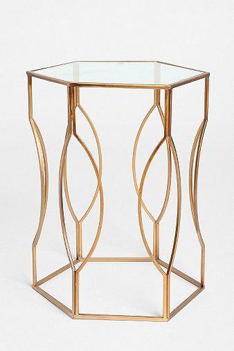 sculpted metal side table $99