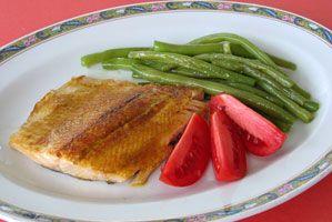 #Truite au #cari  Une recette toute simple, dont le résultat dépend seulement de la fraîcheur du poisson et de la qualité du cari.