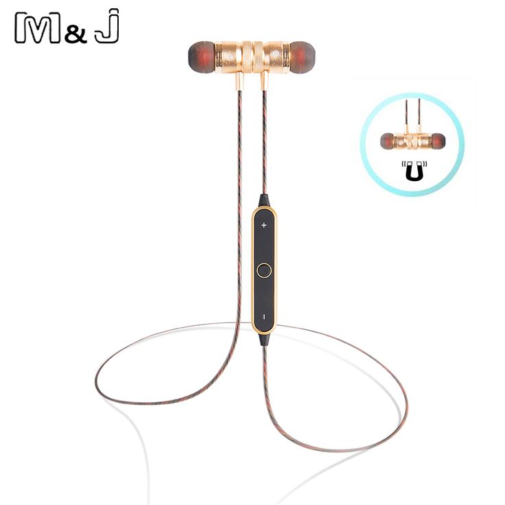 M&J BT-22 Newest Magnet Wireless Bluetooth Earphones Earbuds Stereo Music Sport Running Magnetic Earphones For Phone