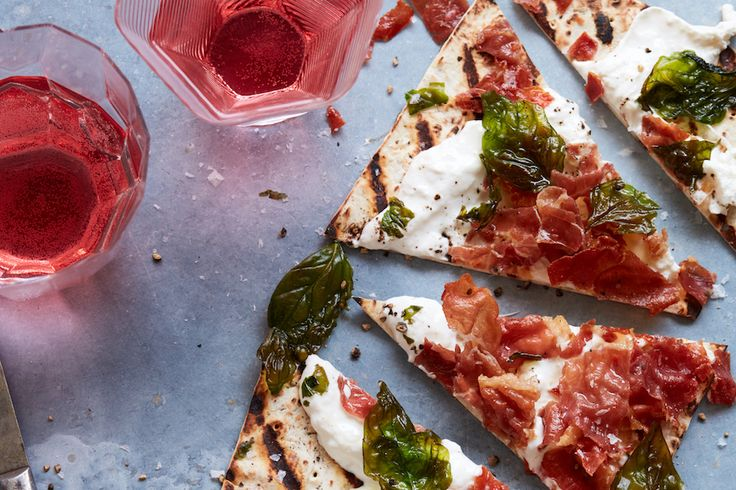 Grilled Burrata Pizza with Crispy Prosciutto - What's Gaby Cooking