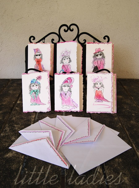 Here are my Mommy's Little ladies handpainted greeting cards!!
