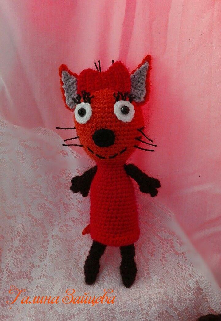 Кошечка Карамелька) #трикота #карамелька #кошки #игрушкидетям #вязаниекрючком