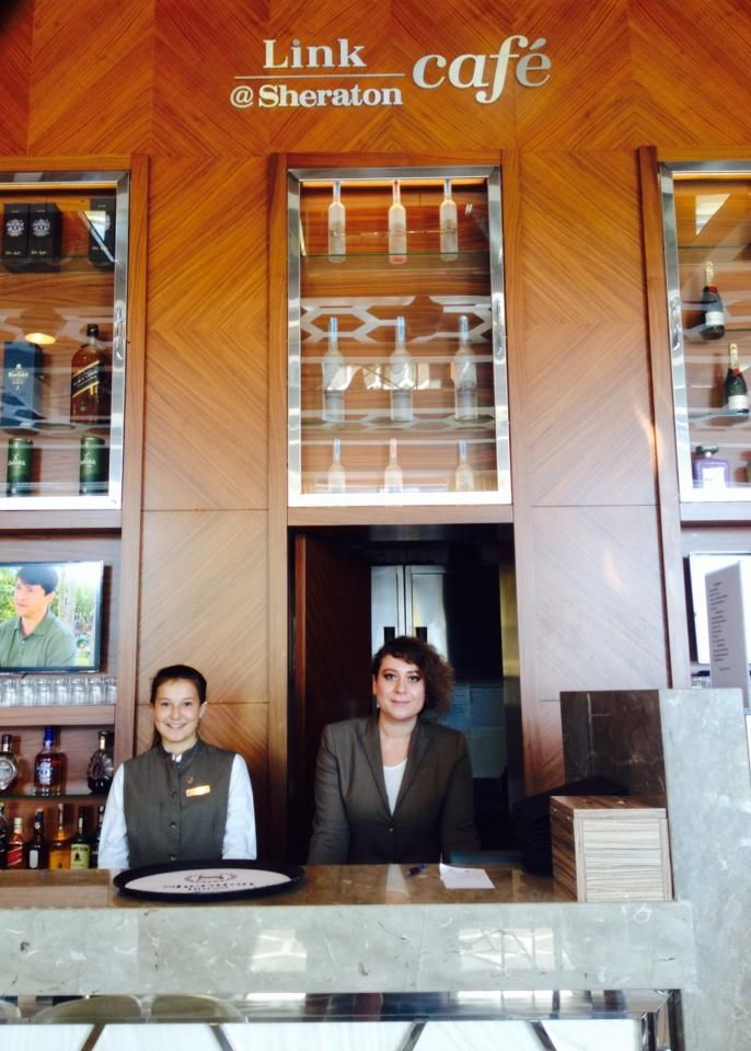 Two of our charming associates at Link@Sheraton, their smile is their trademark!  Link at Sheraton'da görev alan iki güzel çalışma arkadaşımızın gülümsemelerini sizinle paylaşmak istedik!   #sheraton #bursa #sheratonbursa #hotel #linkatsheraton #associates #charming #ladies #smile #happy #service #betterwhenshared