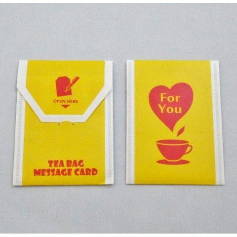 【cobato】ティーバッグ風メッセージカード