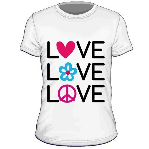 Maglietta personalizzata Love Love Love