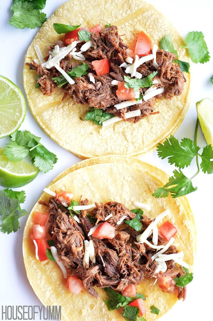 Slow Cooker Sweet Barbacoa Tacos