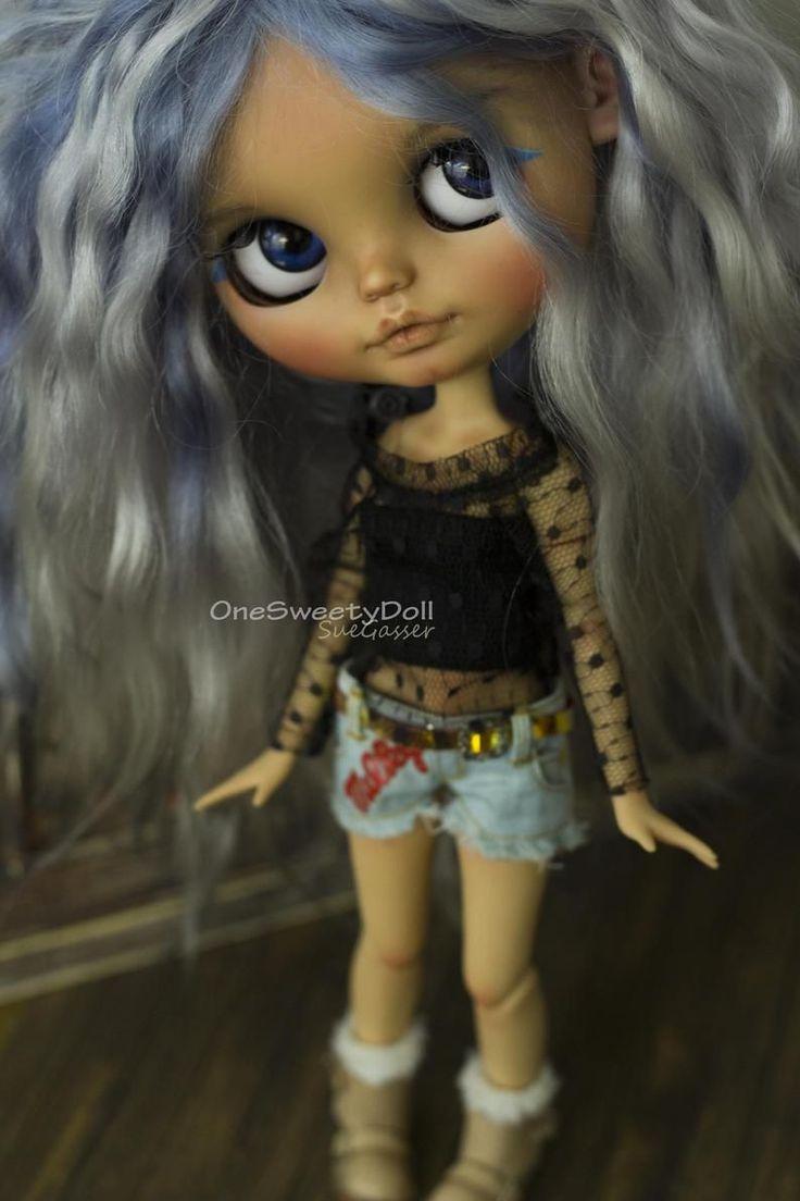 ADOPTED – Blue Ivy – Custom tan Blythe art doll OO…