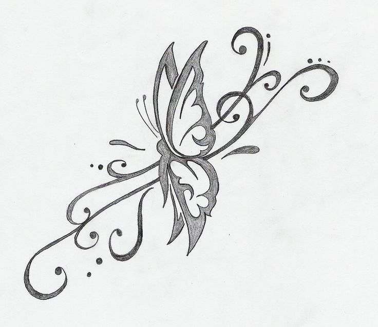 27 best Flying Butterfly Tattoo Drawings images on ...