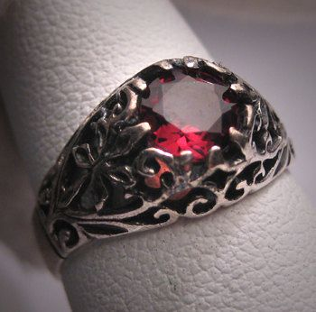 Antique Garnet Wedding Ring Vintage Victorian by AawsombleiJewelry, $295.00... (someone love me and buy me this! i'll be your best friend!)