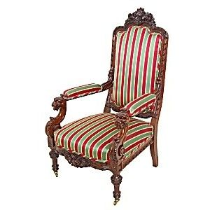 Figural Alexander Roux Rosewood Armchair (FURNITURE/CHAIRS) At SOUTHAM .