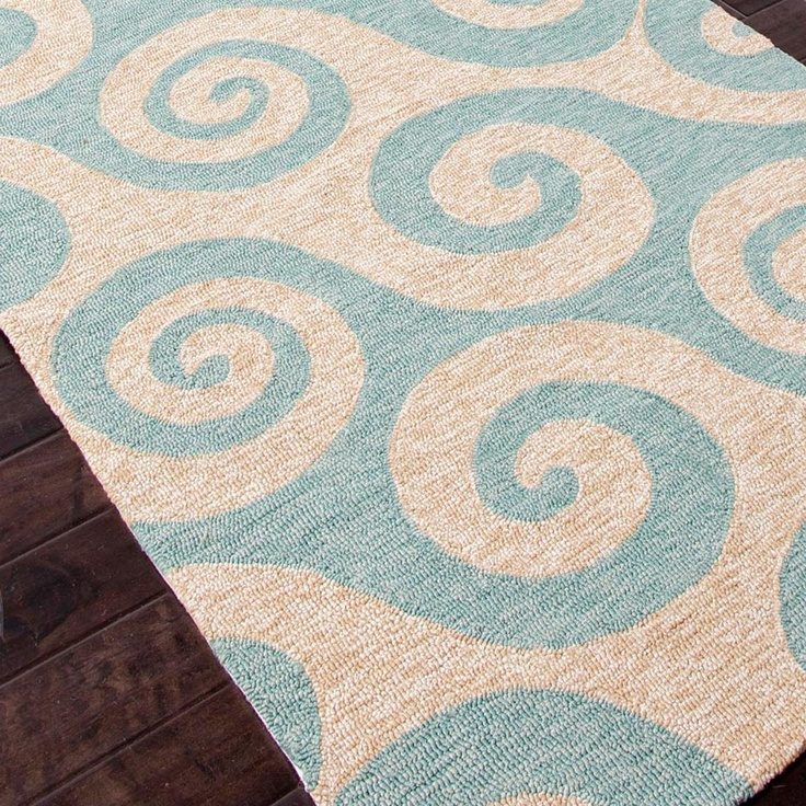 Whimsical Waves In Teal Or Light Blue. Very Durable