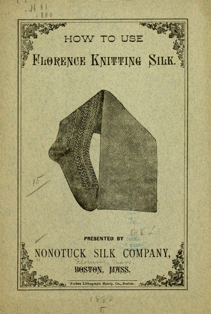34 best vintage knitting images on pinterest knitting dress and how to use florence knitting silk by nonotuck silk company 1880 bankloansurffo Gallery
