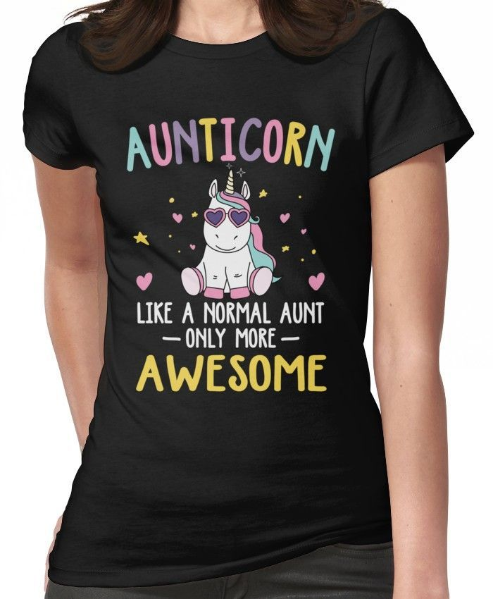 Aunticorn Slogan Unicorn Like A Normal Aunt but More Awesome Ladies tshirt