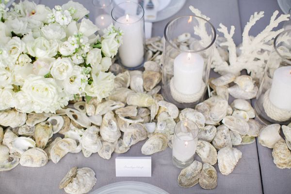 oyster shell centerpiece   Landon Jacob