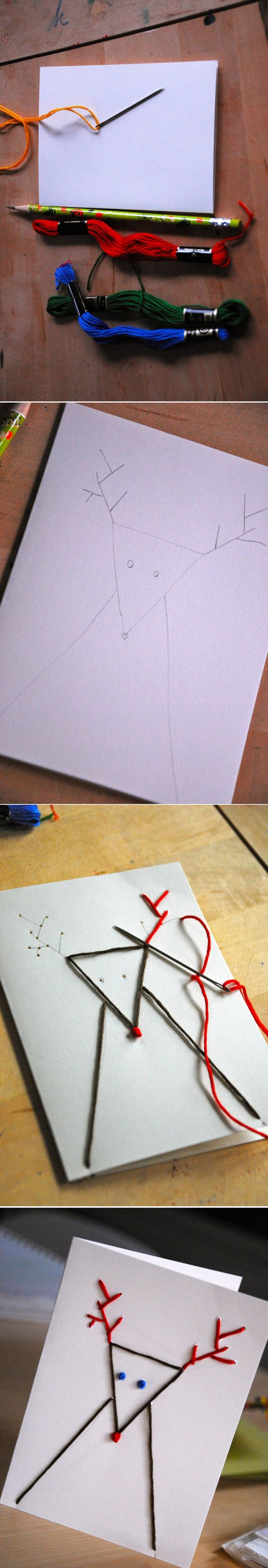 The Embroidered Christmas Card / 49 Awesome DIY Holiday Cards (via BuzzFeed)