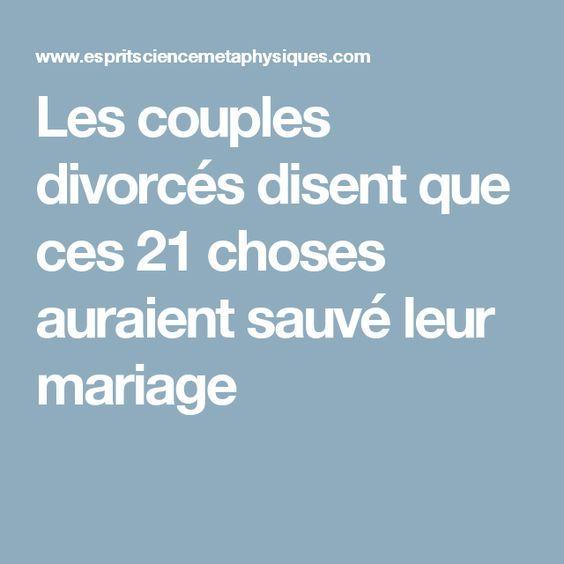 Les couples divorcés disent que ces 21 choses auraient sauvé leur mariage