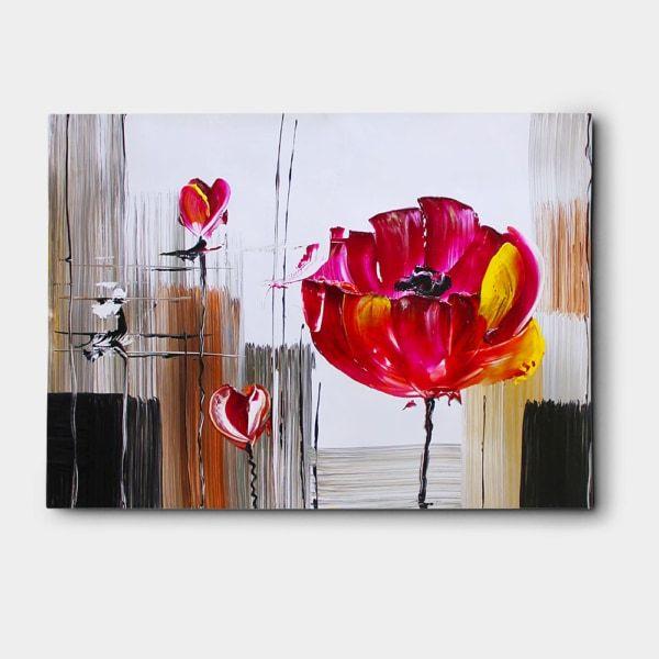 예쁜 꽃그림 액자 (80X60CM) 유화를 사용해 아름답게 그린 꽃그림 액자입니다.