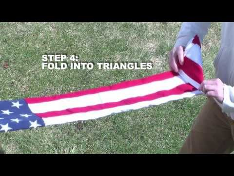 how to fold a flag for flag break