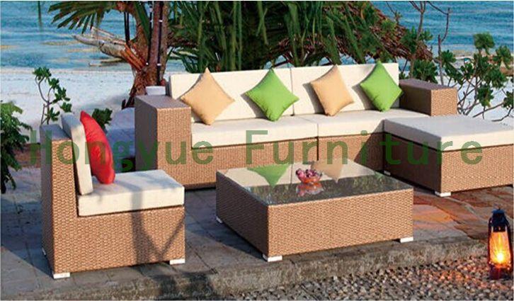 Wicker corner sofa set for outdoor