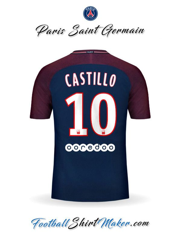 Camiseta Paris Saint Germain 2017/2018 Castillo 10