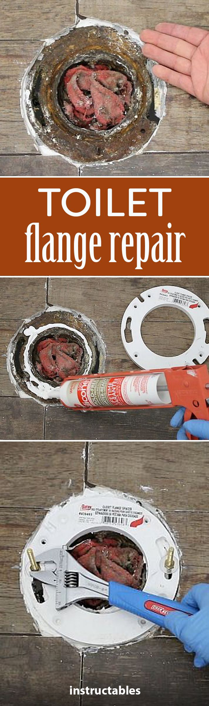 How To Repair A Toilet Flange Using A Toilet Flange Extender   Great Step By