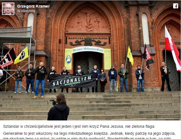 Ojciec Grzegorz Kramer do panów z ONR: chcecie łączyć się z Kościołem? Macie do tego prawo, ale zostawcie swoje hasła daleko od Kościoła