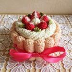 ピンクのシャルロットケーキの小物入れ
