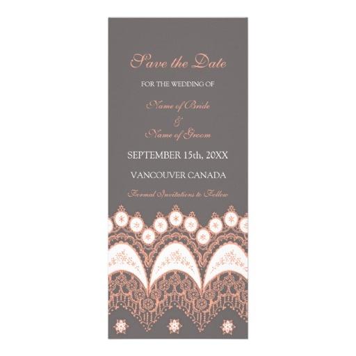 Coral Grey Wedding Save the Date Card #zazzle #wedding #savethedate