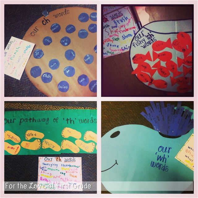 Digraph Crafts - For the Love of First Grade